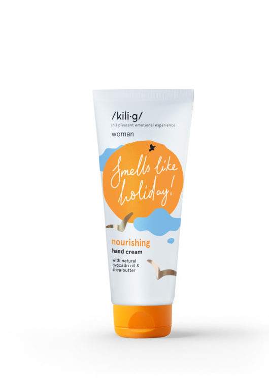 Hand cream with tangerine scent