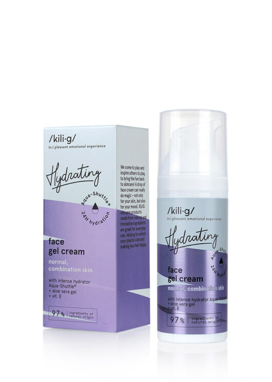 intensive hydrating facial gel cream for normal, combination skin