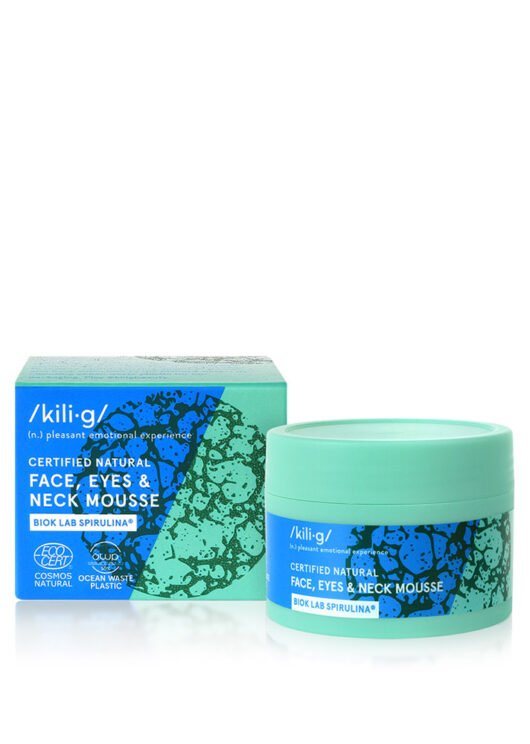 face, eyes and neck mousse with spirulina